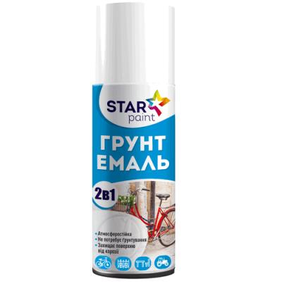 link min 400x400 - Емаль-ґрунт 2 в 1 в аерозольній упаковці STAR Paint колір чорний, об'єм 0,4 л